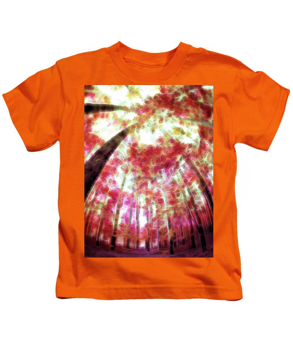 Fall Kids T-Shirt featuring the digital art Naturally Pink by Tina Baxter