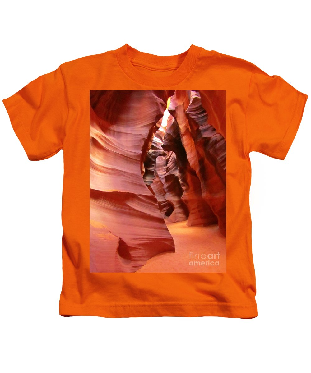 Natures Art Kids T-Shirt featuring the photograph Natures Art by John Malone