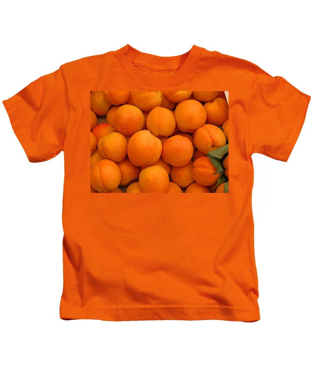 Fruit Kids T-Shirt featuring the photograph Nectarines by Susan Rovira