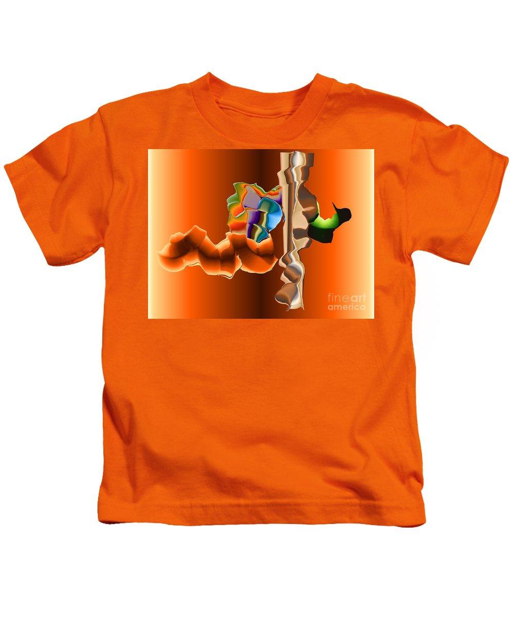 Kids T-Shirt featuring the digital art No. 470 by John Grieder