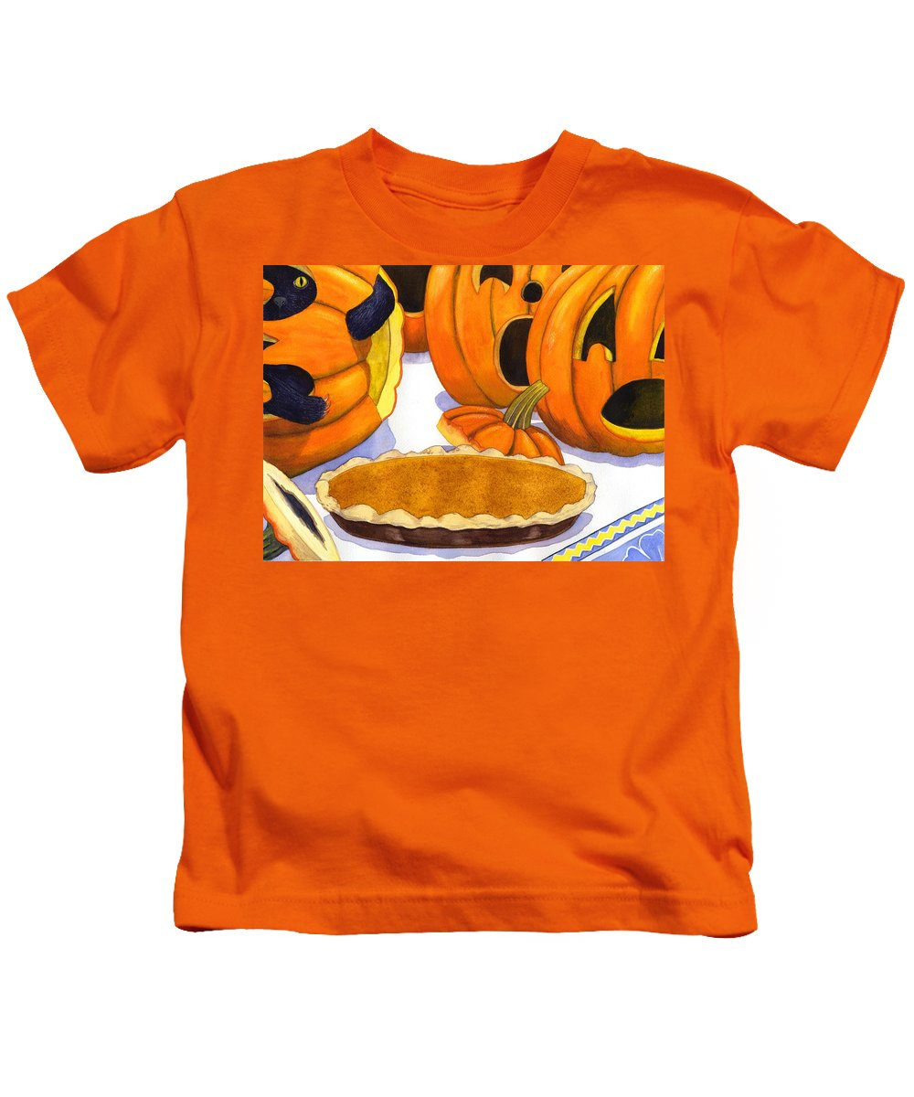 Halloween Kids T-Shirt featuring the painting Oh No Is That Jack by Catherine G McElroy