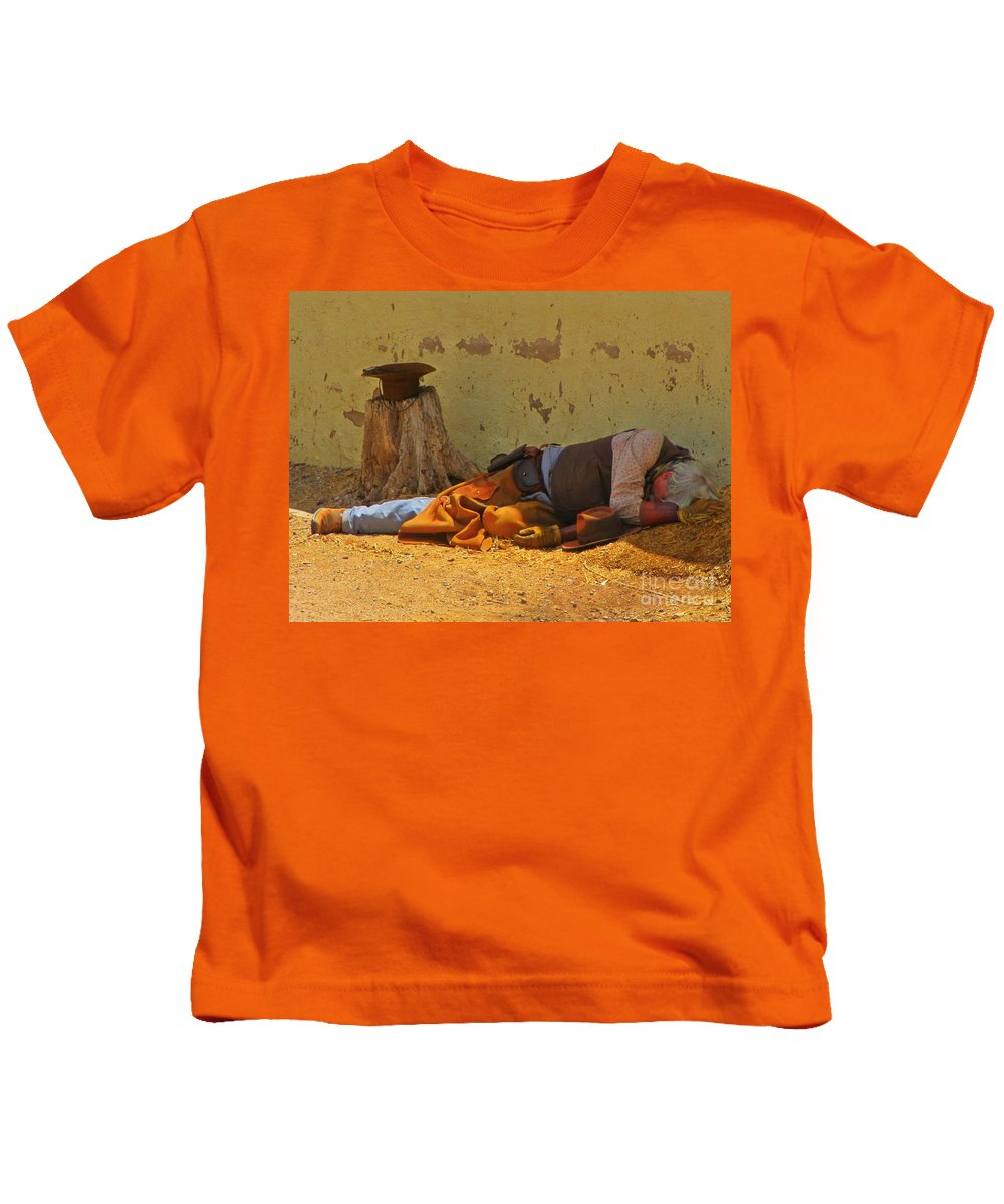 Ok Corral Victim Kids T-Shirt featuring the photograph Ok Corral Victim by John Malone