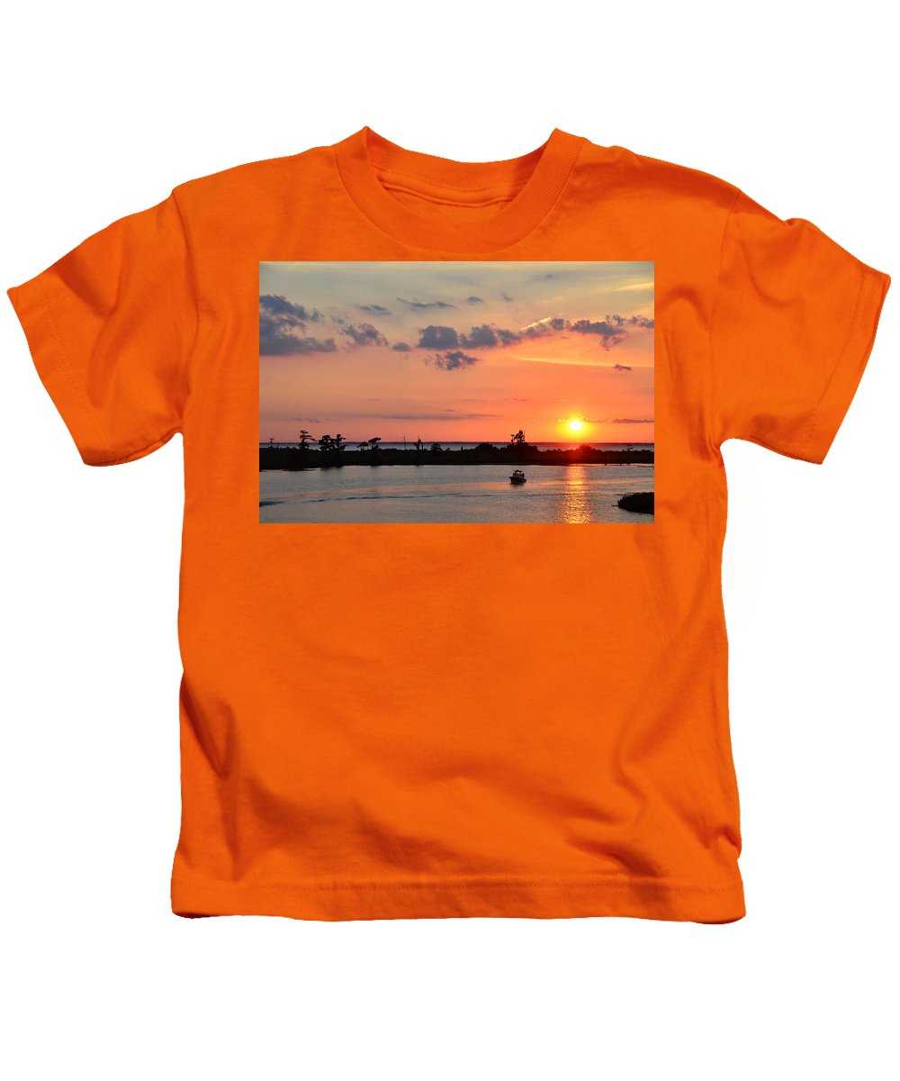 Lake Maurepas Kids T-Shirt featuring the photograph On Lake Maurepas by Charlotte Schafer
