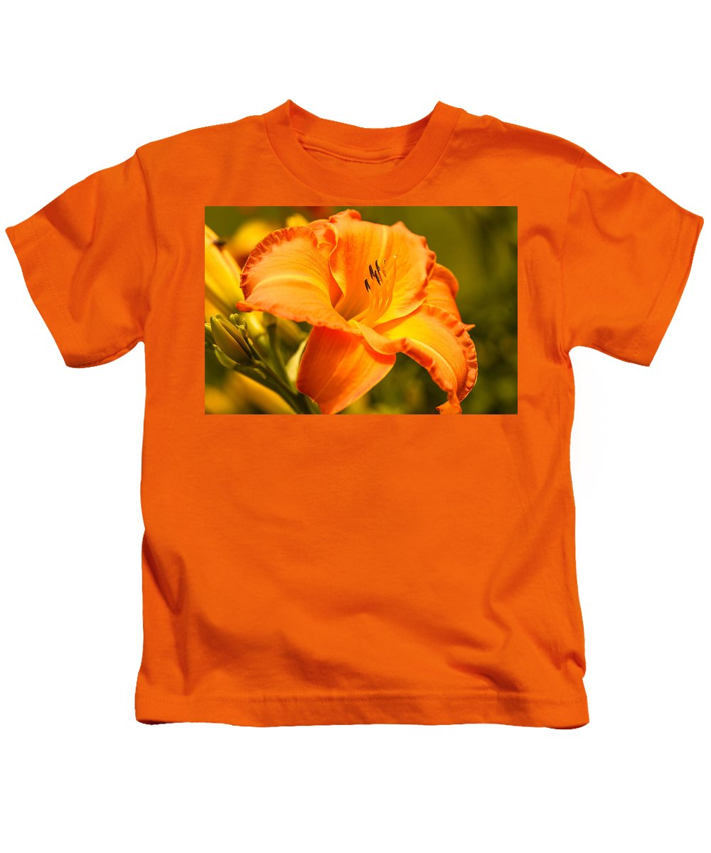 Lily Kids T-Shirt featuring the photograph Orange Lily by Ben Graham