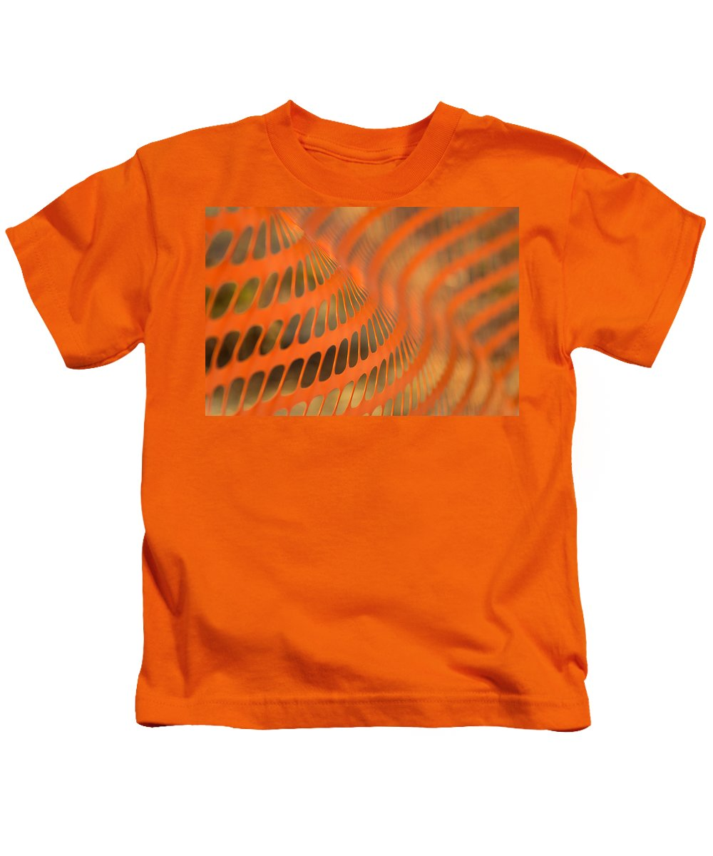 Bill Pevlor Kids T-Shirt featuring the photograph Orange Wave by Bill Pevlor