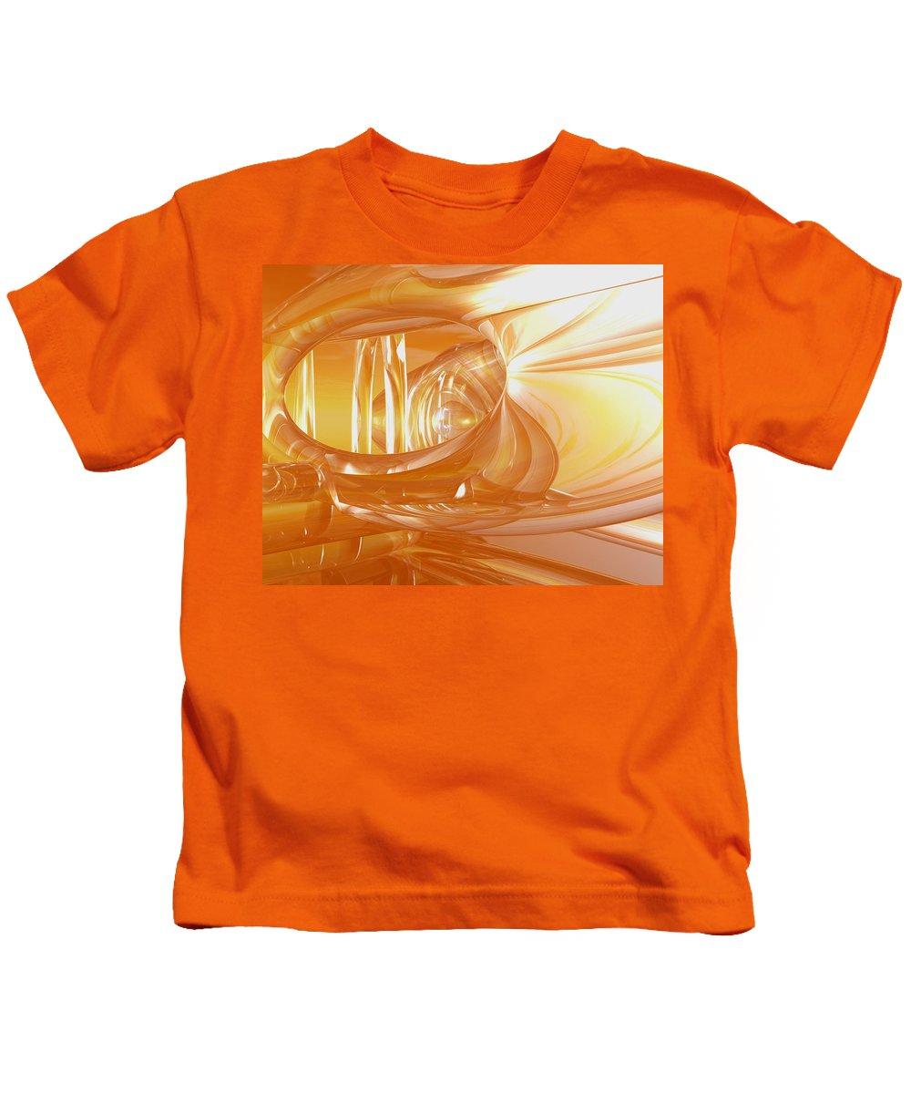 Peach Kids T-Shirt featuring the digital art Peaches N' Cream by Joshua Thompson