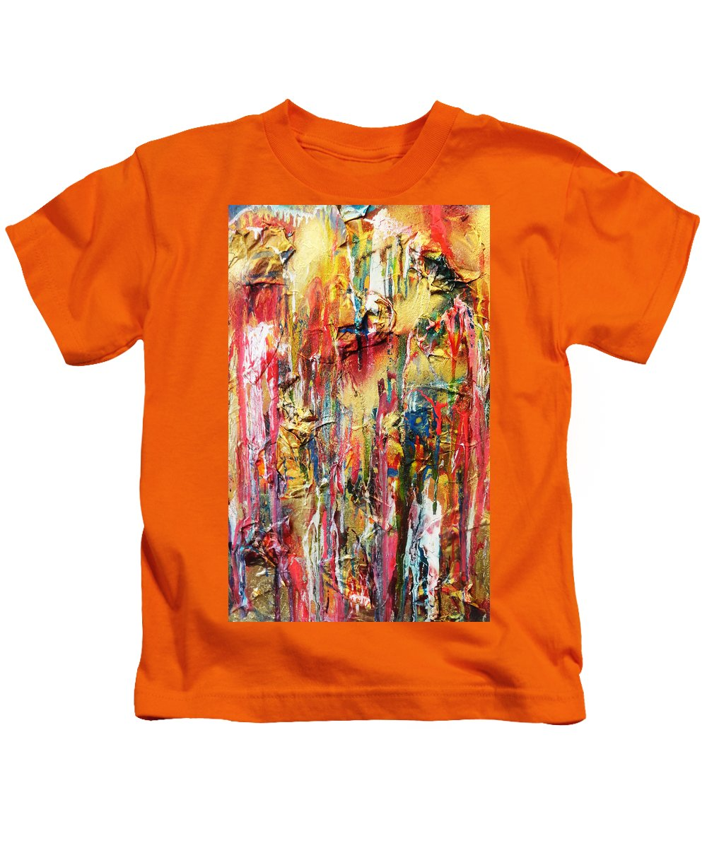Contemporary Abstract Kids T-Shirt featuring the painting People Do Not Change Things Change People by Yael VanGruber