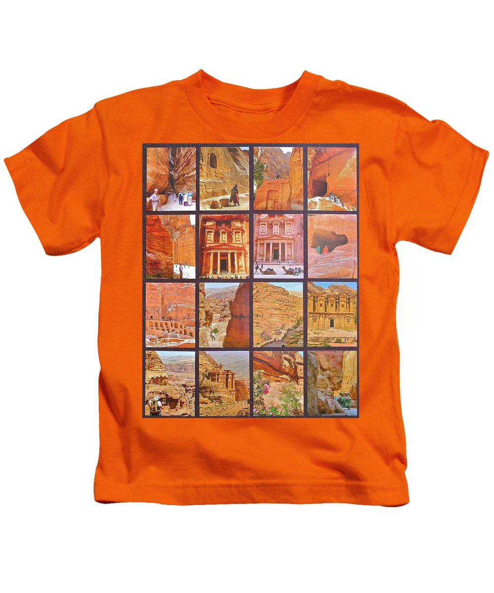 Petra Alive Kids T-Shirt featuring the photograph Petra Alive In Petra Jordan by Ruth Hager