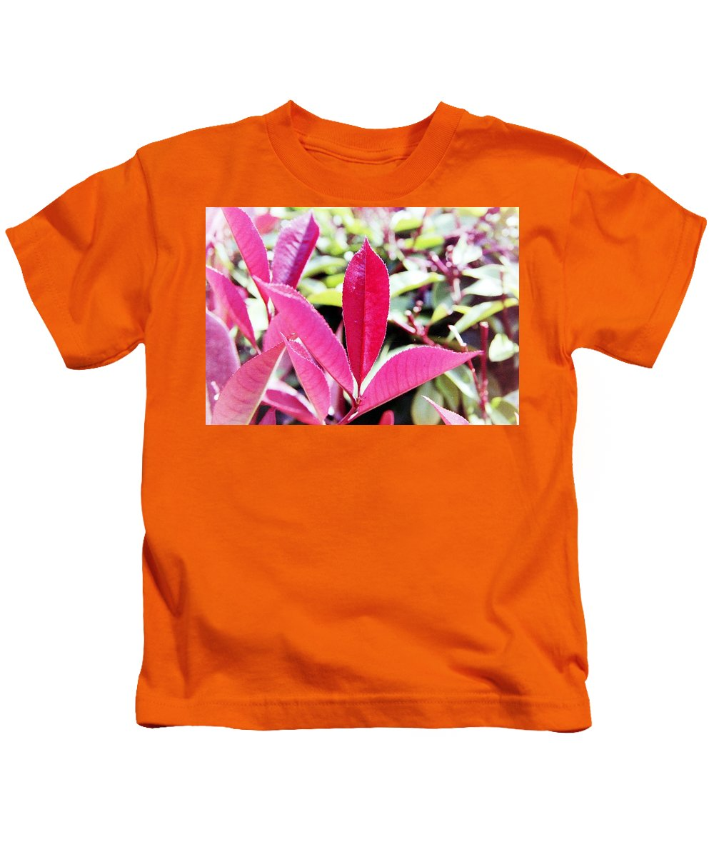 Red Kids T-Shirt featuring the photograph Red Leaves by Karl Rose