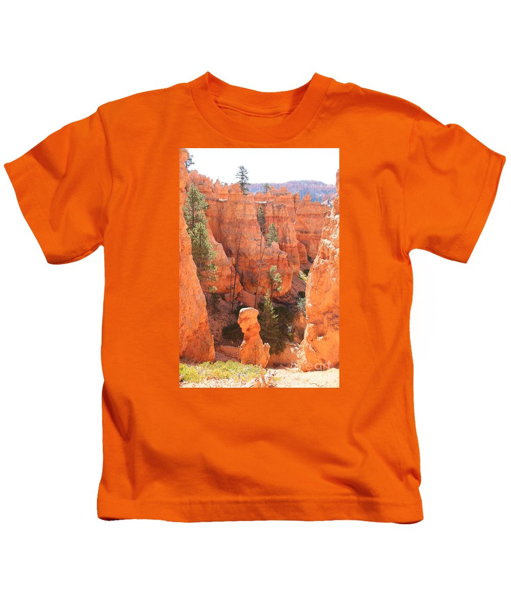 Canyon Kids T-Shirt featuring the photograph Red Rocks - Bryce Canyon by Christiane Schulze Art And Photography
