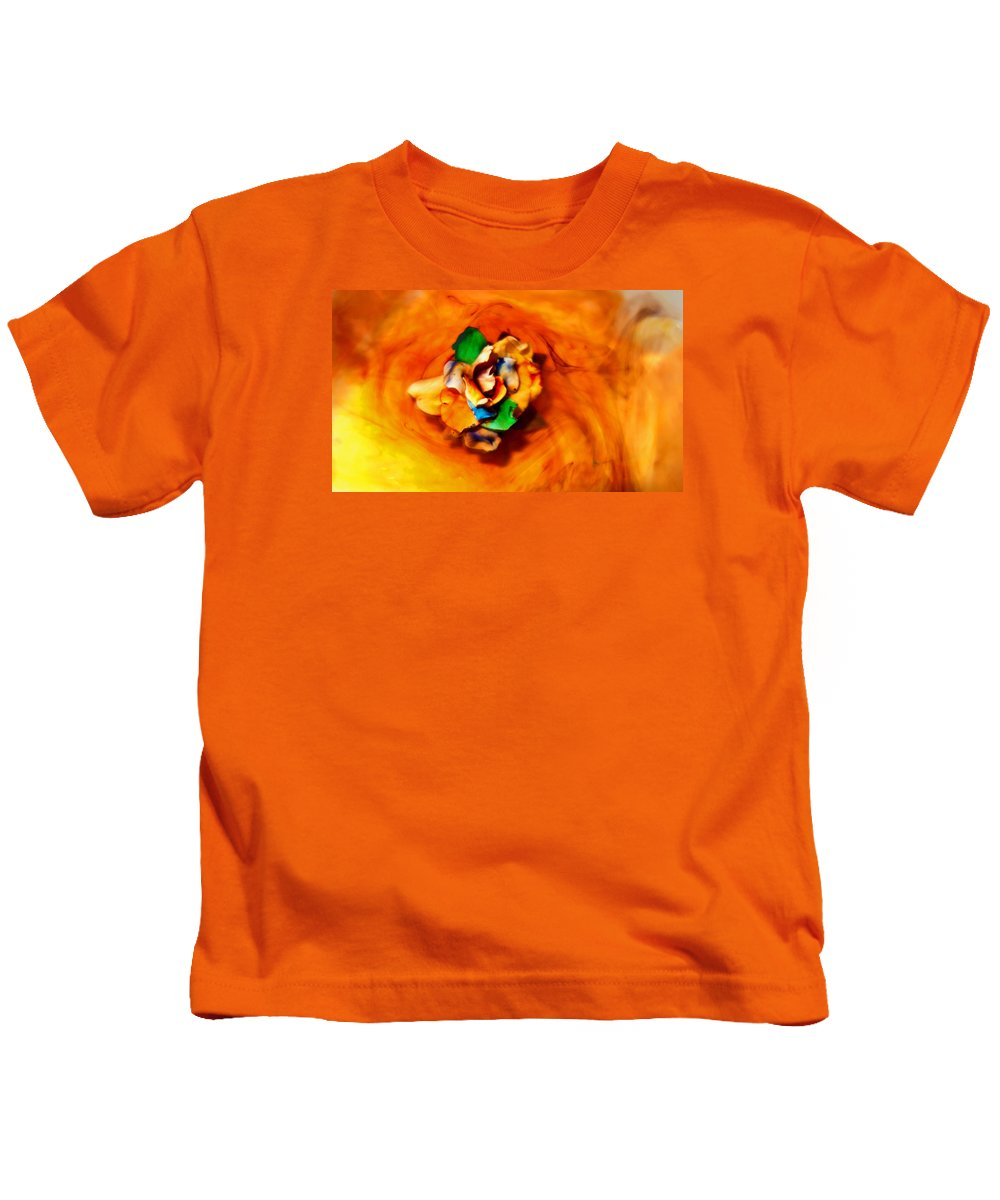 Photography Kids T-Shirt featuring the photograph Rose In A Dream by Robert Zuchowski
