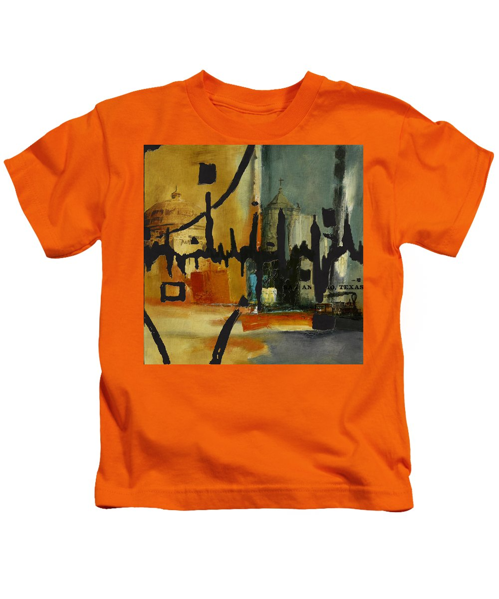 San Antonio Kids T-Shirt featuring the painting San Antonio 003 B by Corporate Art Task Force