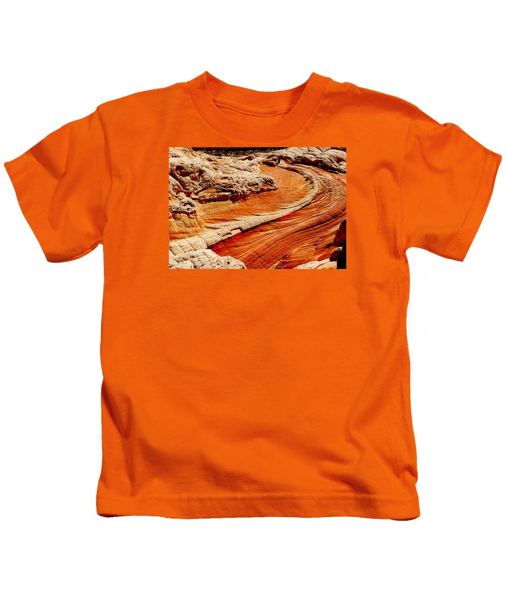 Sandstone Kids T-Shirt featuring the photograph Sandstone Highway by Alan Socolik