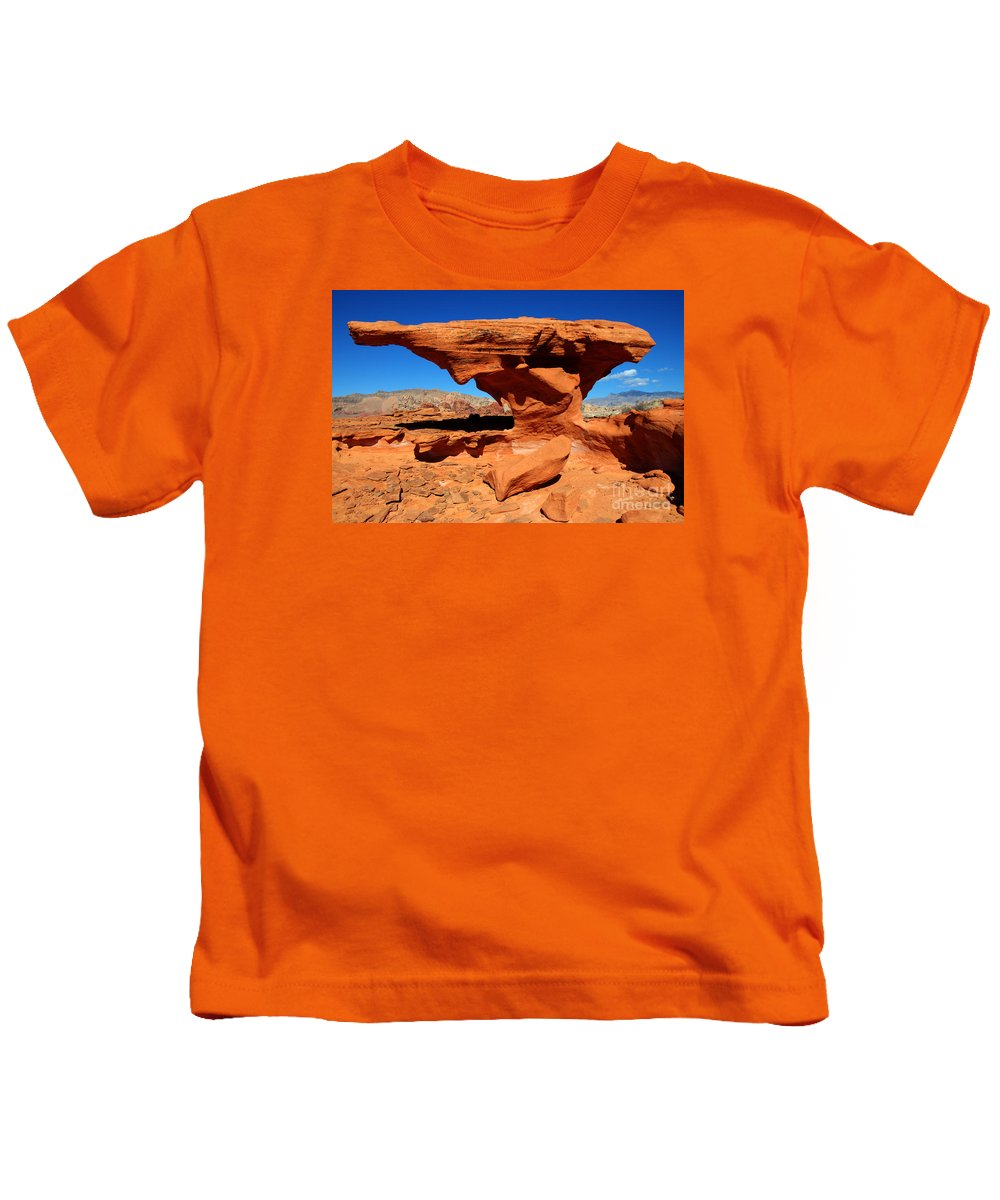 Beauty Of Sandstone Kids T-Shirt featuring the photograph Sandstone Landscape by Bob Christopher