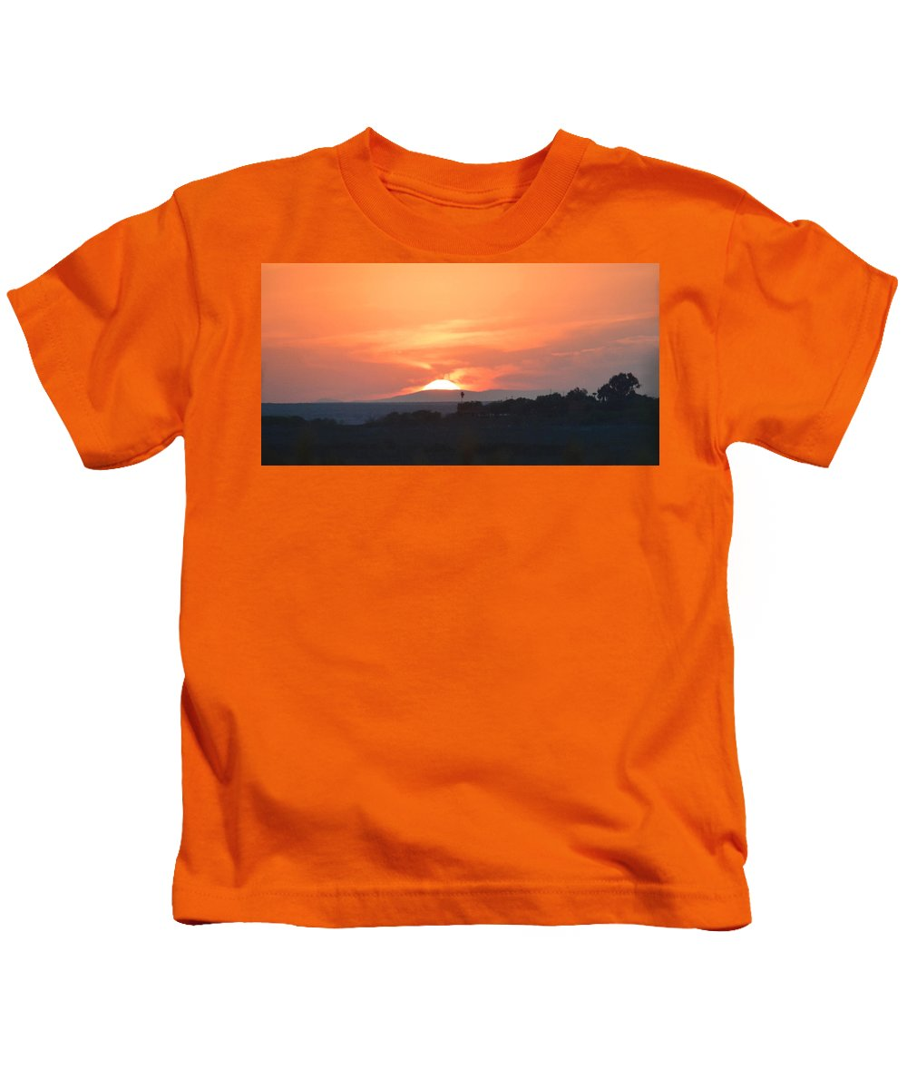 Sun Kids T-Shirt featuring the photograph Setting Sun by Leticia Latocki