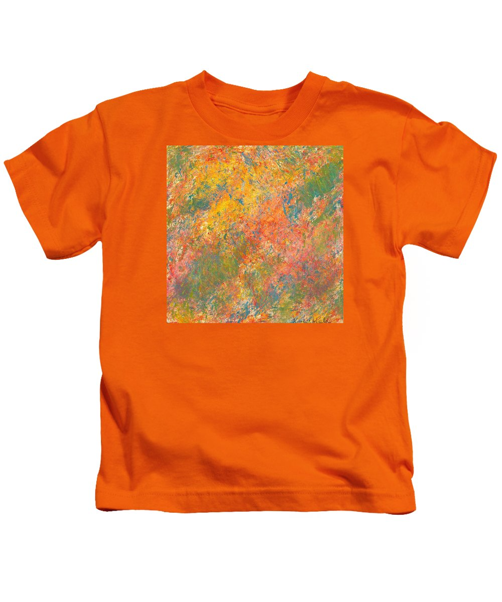 Center Of The Mind Kids T-Shirt featuring the painting Shifting Glow by Kendall Kessler