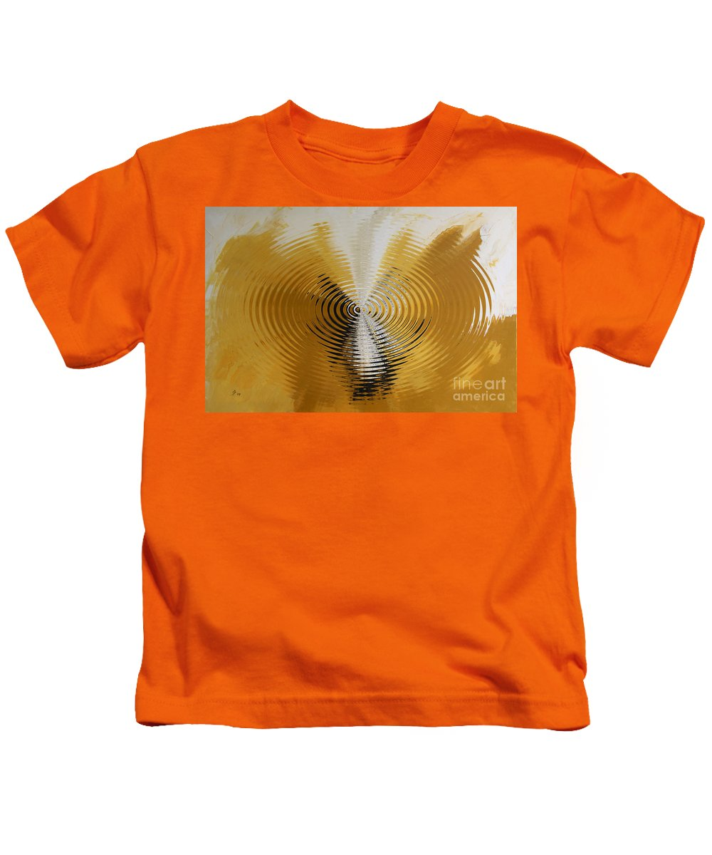 Painting Kids T-Shirt featuring the digital art Shock Wave by Christiane Schulze Art And Photography