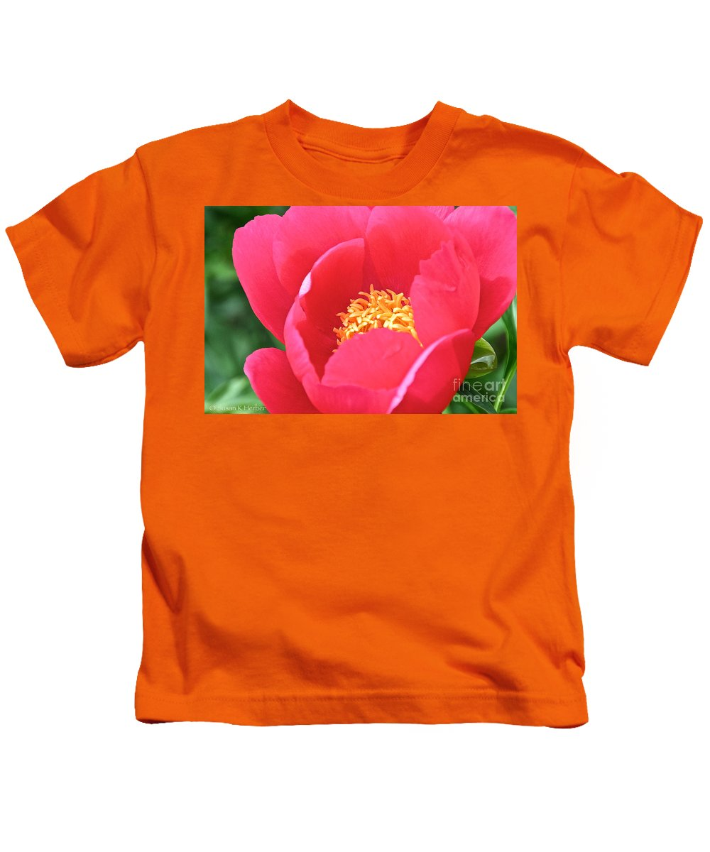 Flower Kids T-Shirt featuring the photograph Simple Peony by Susan Herber