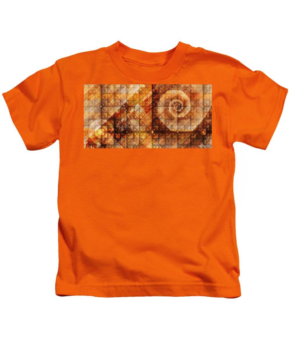 Fractal Kids T-Shirt featuring the digital art Six Sigma by Richard Kelly