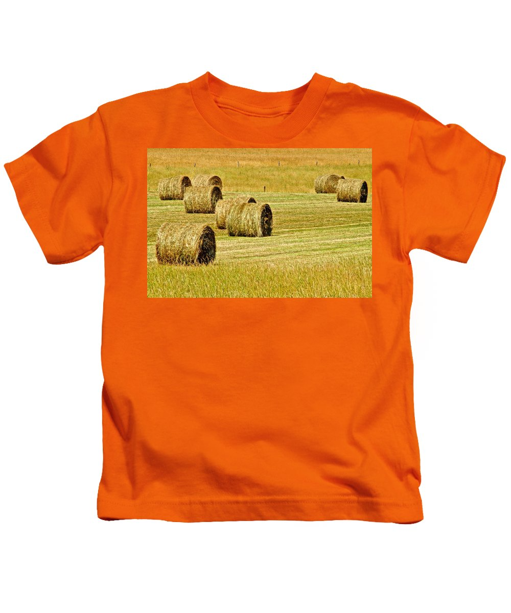 Landscape Kids T-Shirt featuring the photograph Smoky Mountain Hay by Frozen in Time Fine Art Photography