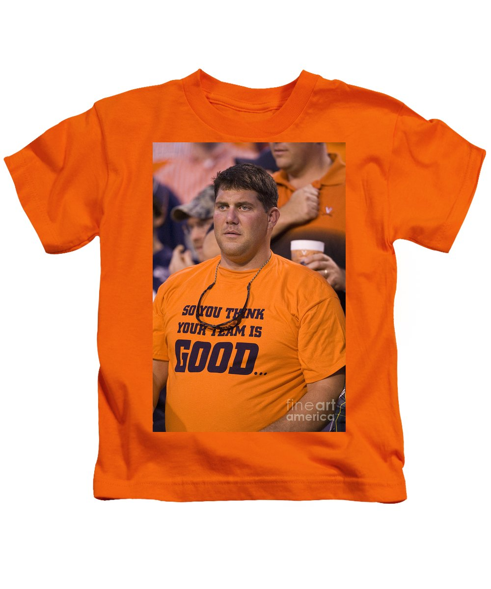 Football Kids T-Shirt featuring the photograph So You Think Your Team Is Good by Jason O Watson