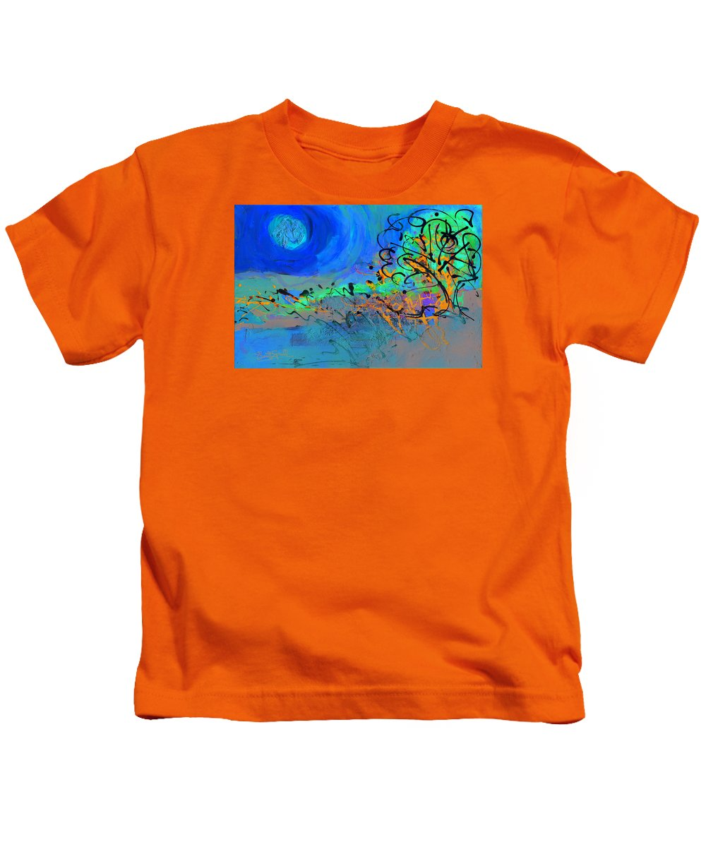Landscape Kids T-Shirt featuring the painting Somewhere The Sun by Everett Spruill