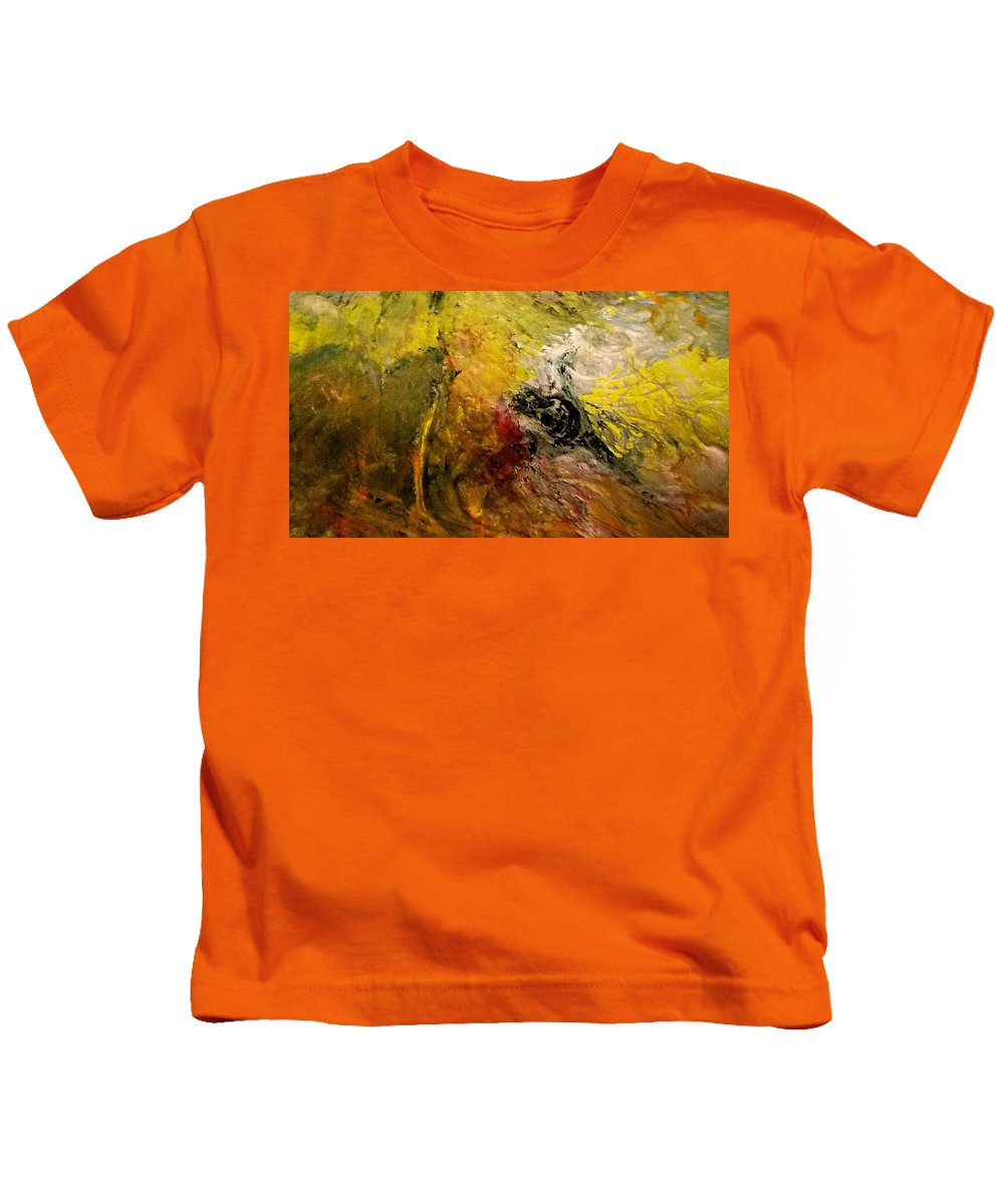 Sound Kids T-Shirt featuring the painting Sound Of Intent by Paula Andrea Pyle