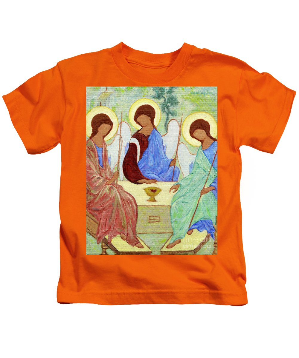 Holy Kids T-Shirt featuring the painting Spring Celebration by Xueling Zou