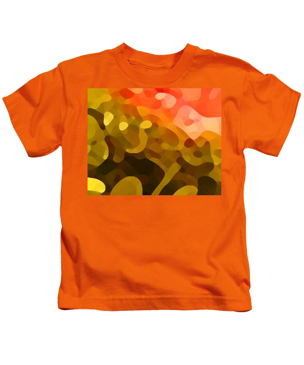 Abstract Kids T-Shirt featuring the painting Spring Day by Amy Vangsgard