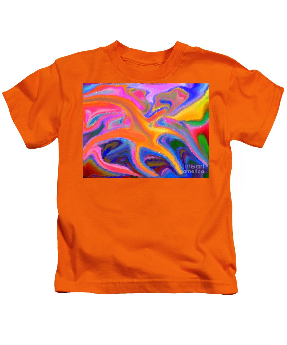 Starfish Kids T-Shirt featuring the digital art Starfish by Chris Butler