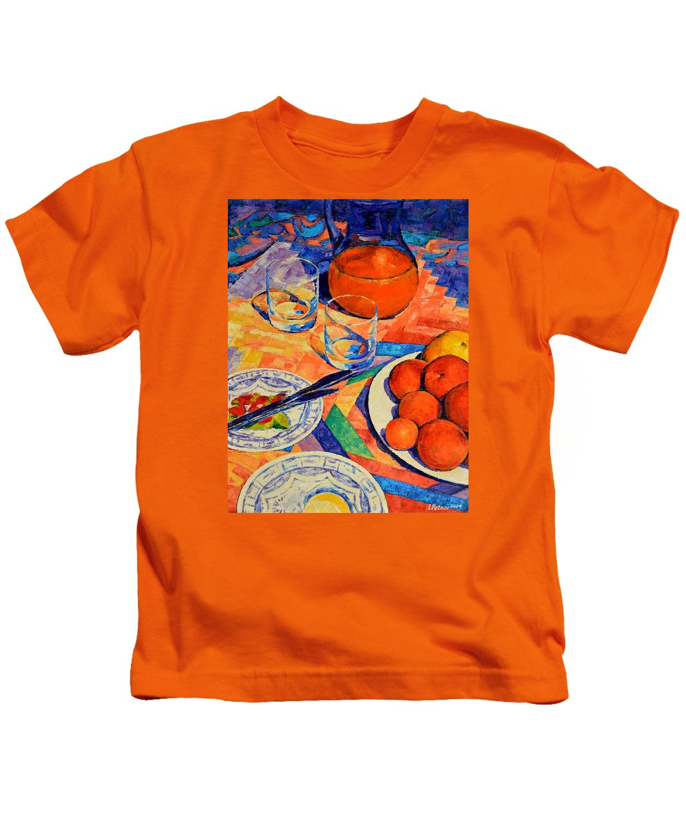 Still Life Kids T-Shirt featuring the painting Still Life 1 by Iliyan Bozhanov