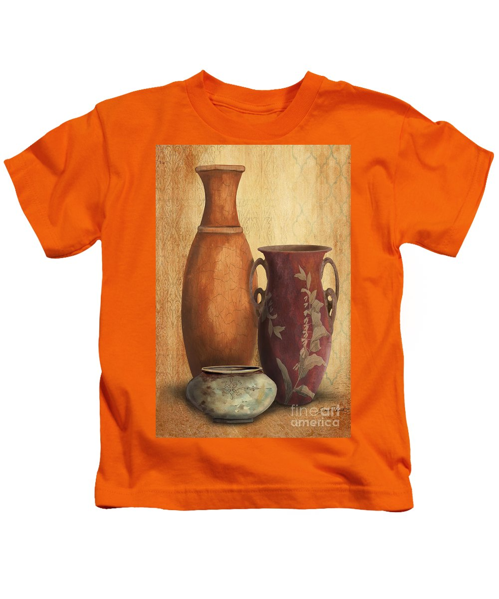Original Painting Kids T-Shirt featuring the painting Still Life-h by Jean Plout