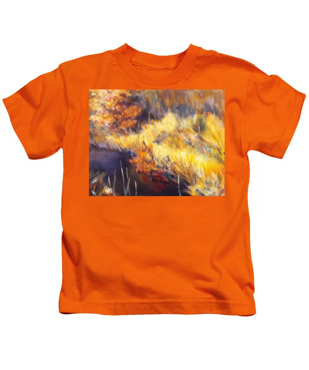 Stream Kids T-Shirt featuring the painting Stream by Kendall Kessler