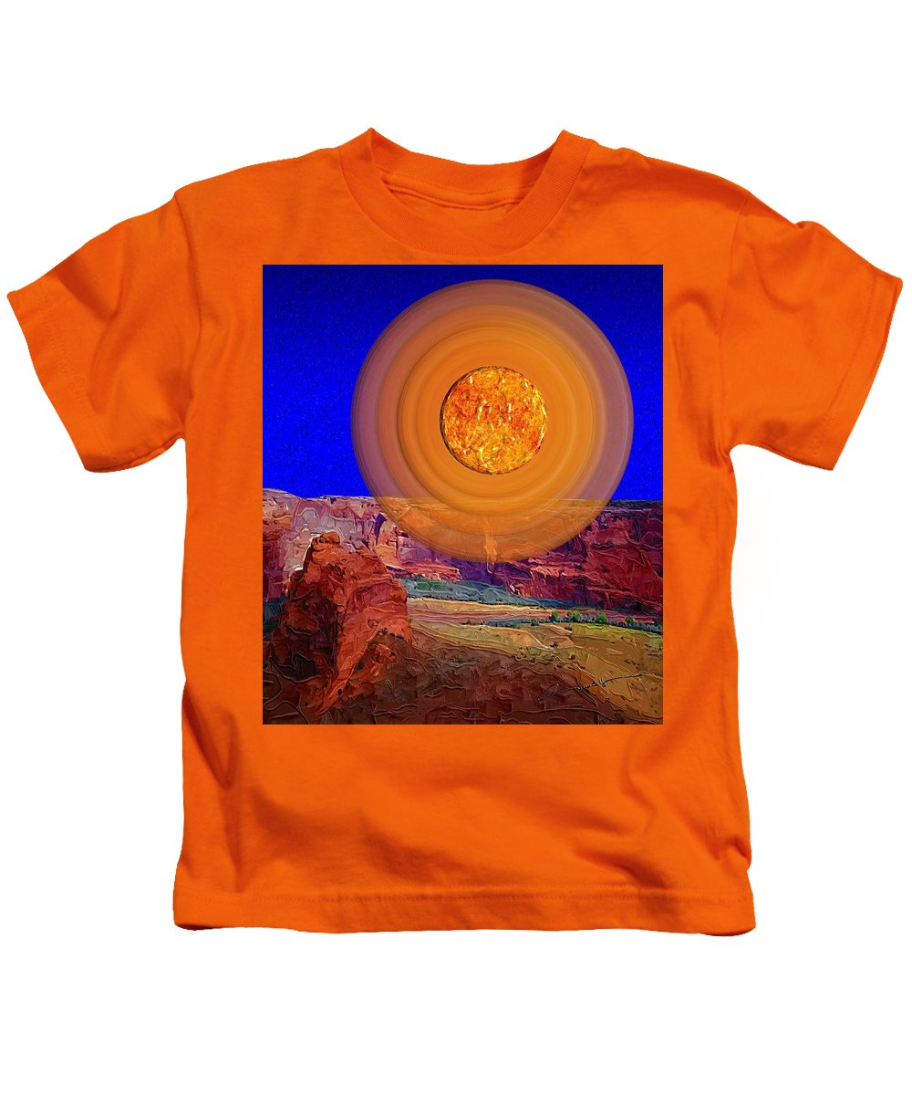 Sun Kids T-Shirt featuring the digital art Sun Over Canyon De Chelly by Michael Hurwitz