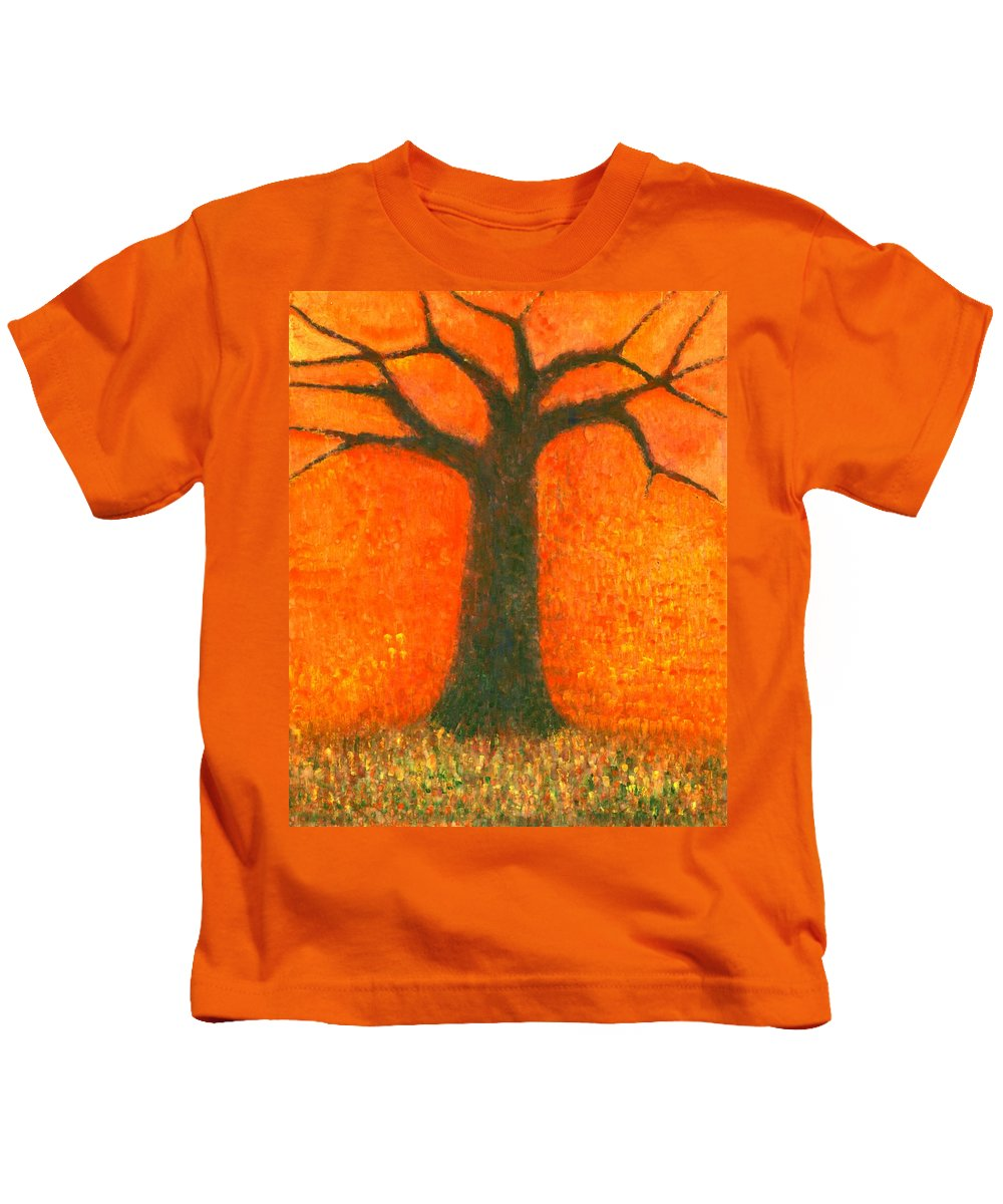 Colour Kids T-Shirt featuring the painting Sunny Rain by Wojtek Kowalski