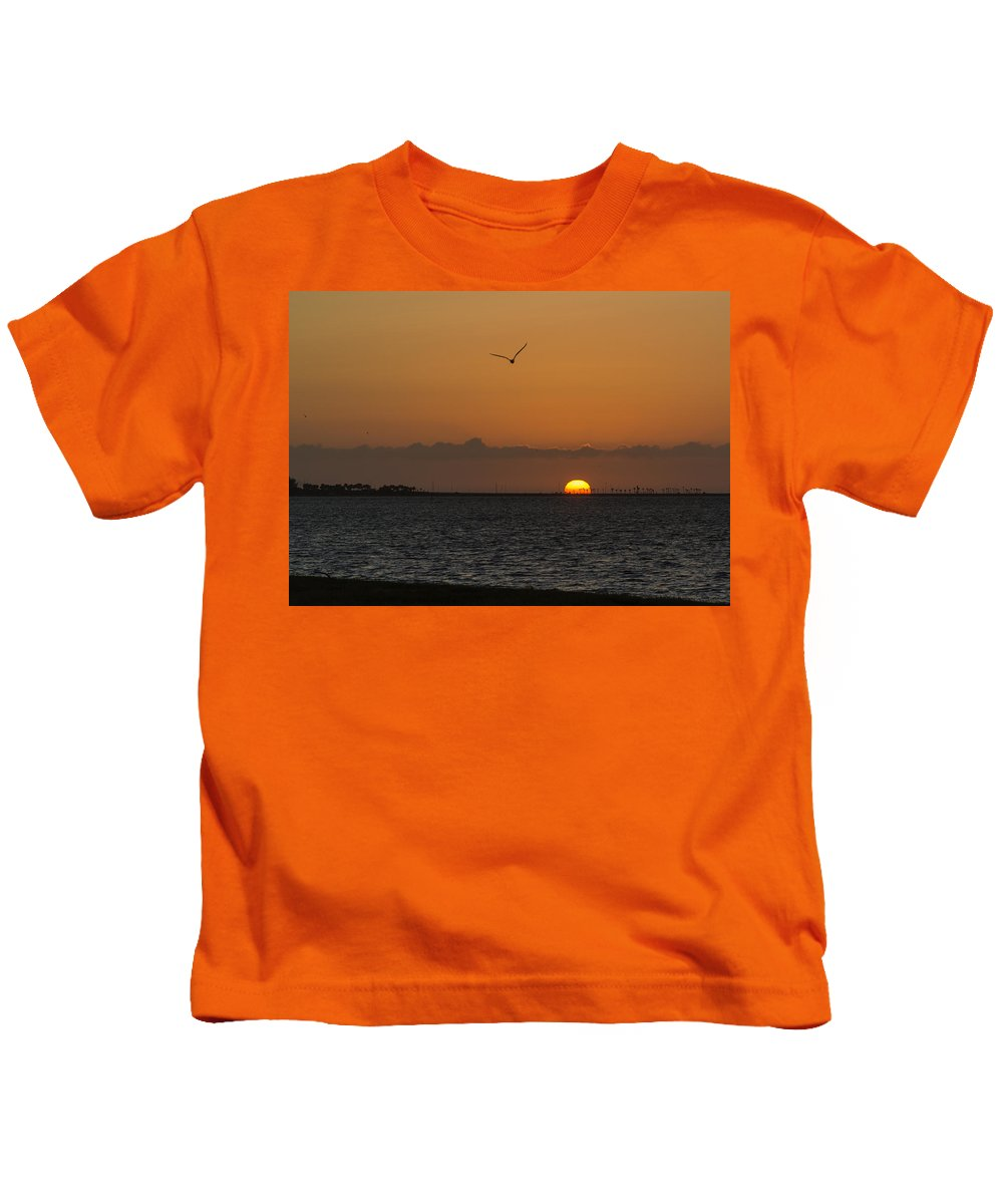 Florida Kids T-Shirt featuring the photograph Sunrise by Jane Luxton