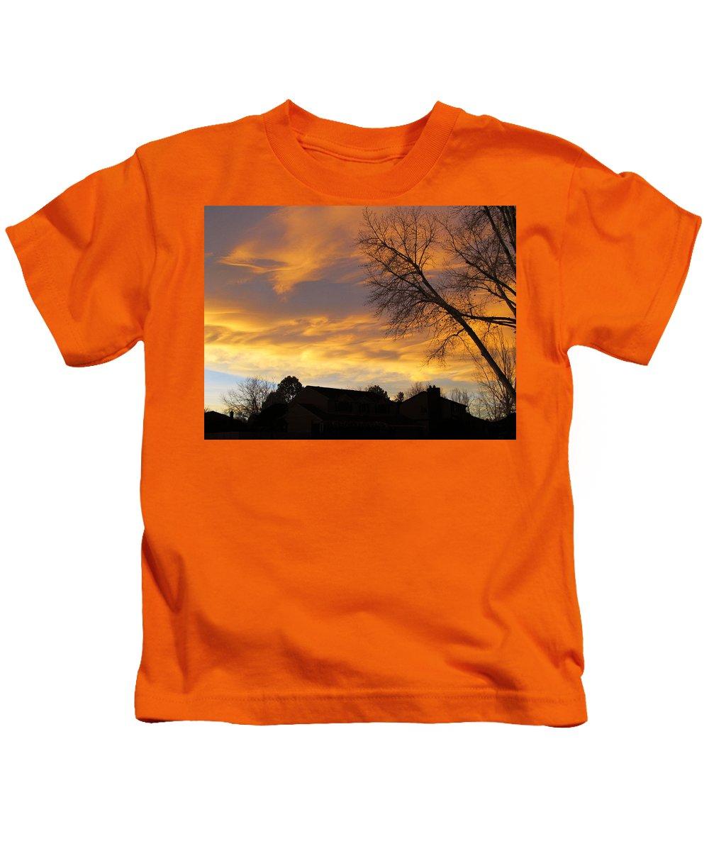 Sunset Kids T-Shirt featuring the photograph Sunset 3 by Becca Buecher