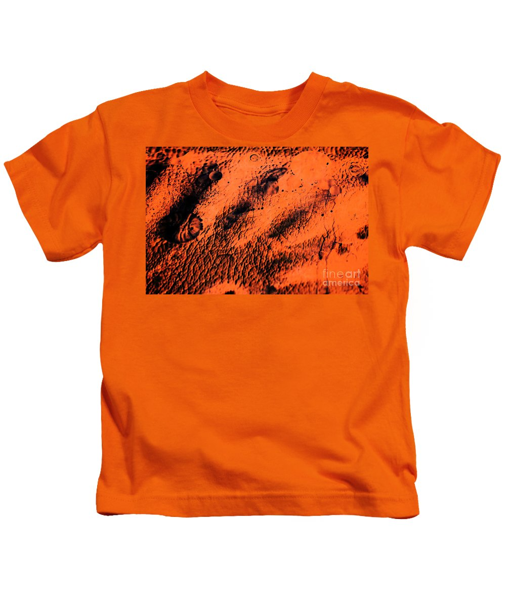 Abstract Kids T-Shirt featuring the photograph The Black Hand by Charles Dobbs