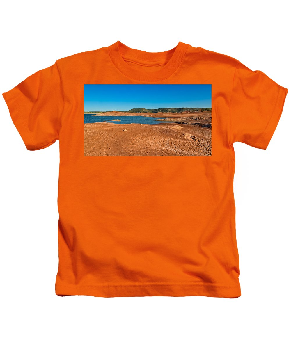 Glendo State Park Kids T-Shirt featuring the photograph The Cyclic Lake by John M Bailey