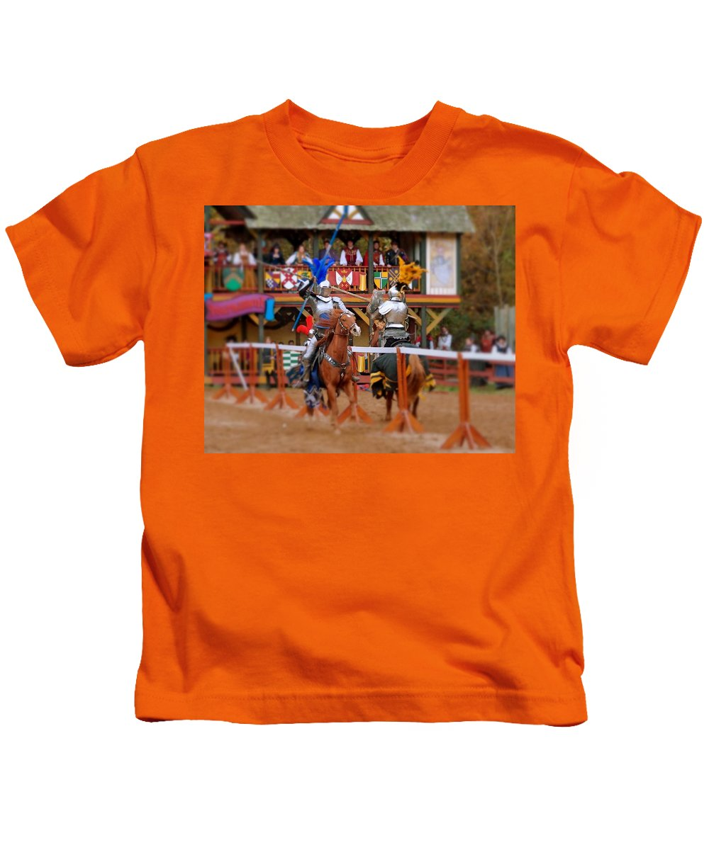 Fine Art Kids T-Shirt featuring the photograph The Jousters 2 by Rodney Lee Williams