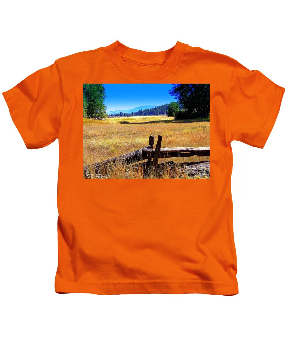 Acrylic Prints Kids T-Shirt featuring the photograph The Land With A View by Bobbee Rickard