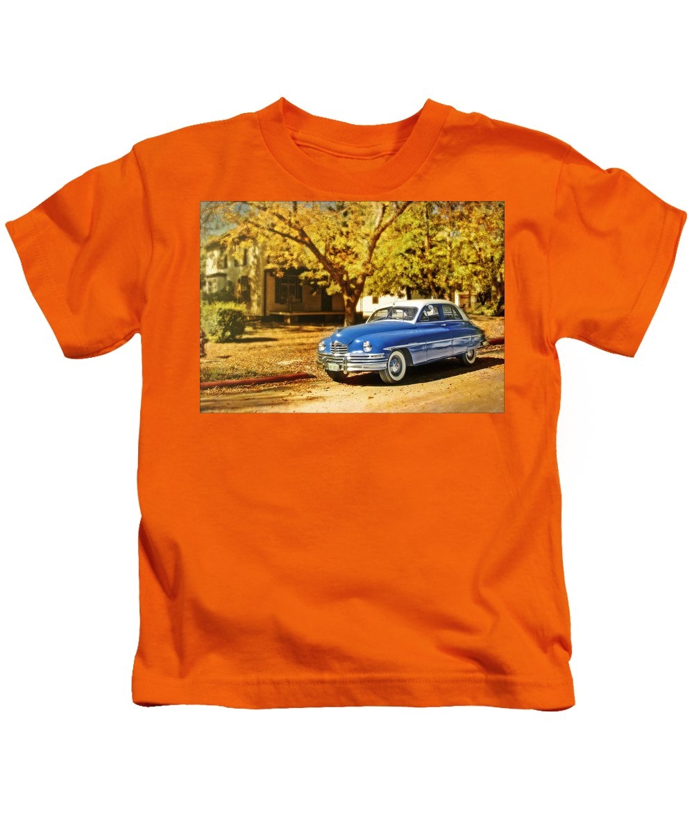 Cars Kids T-Shirt featuring the photograph The Packard by John Anderson