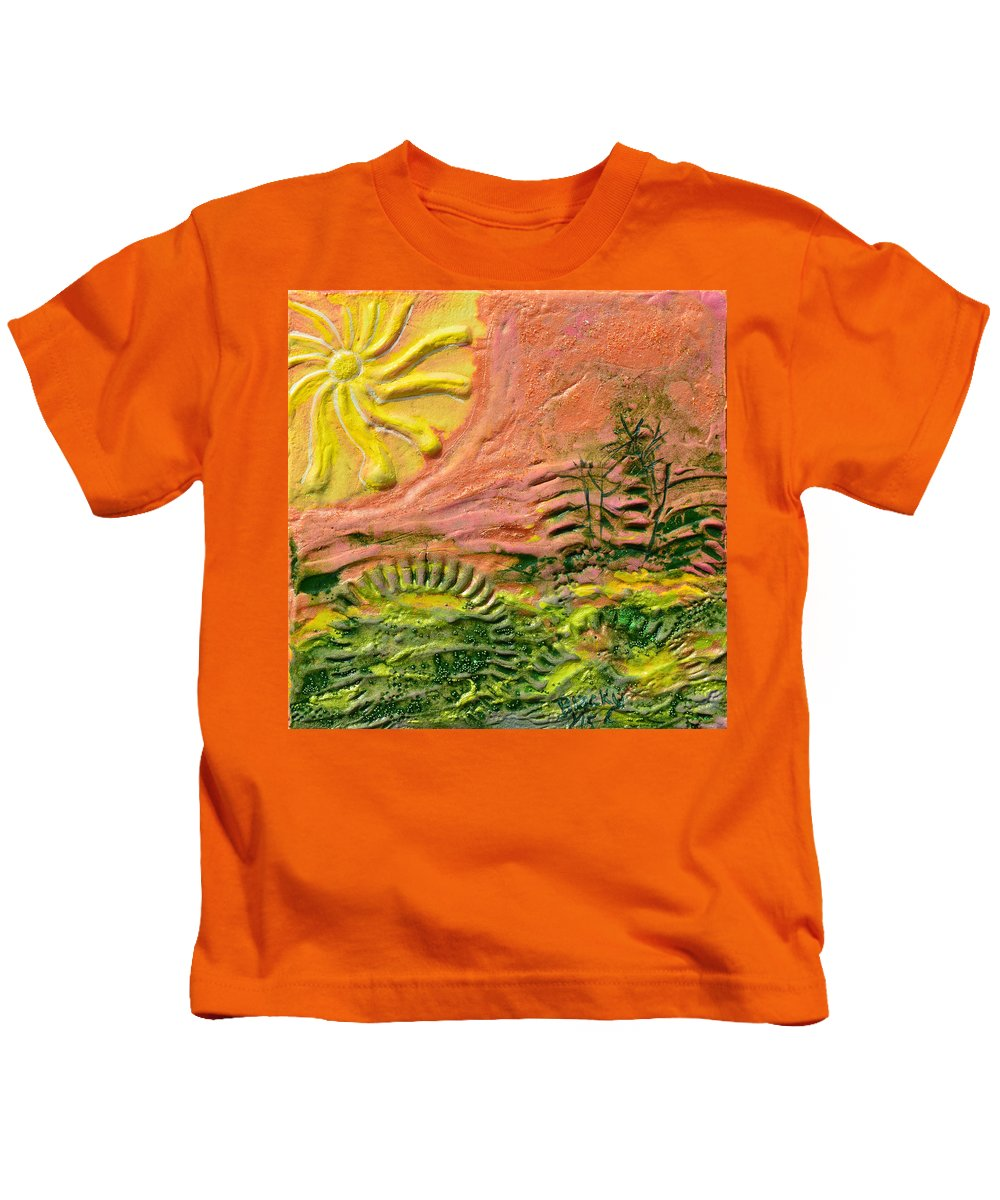 Sunshine Kids T-Shirt featuring the painting The Sound Of Sunshine by Donna Blackhall