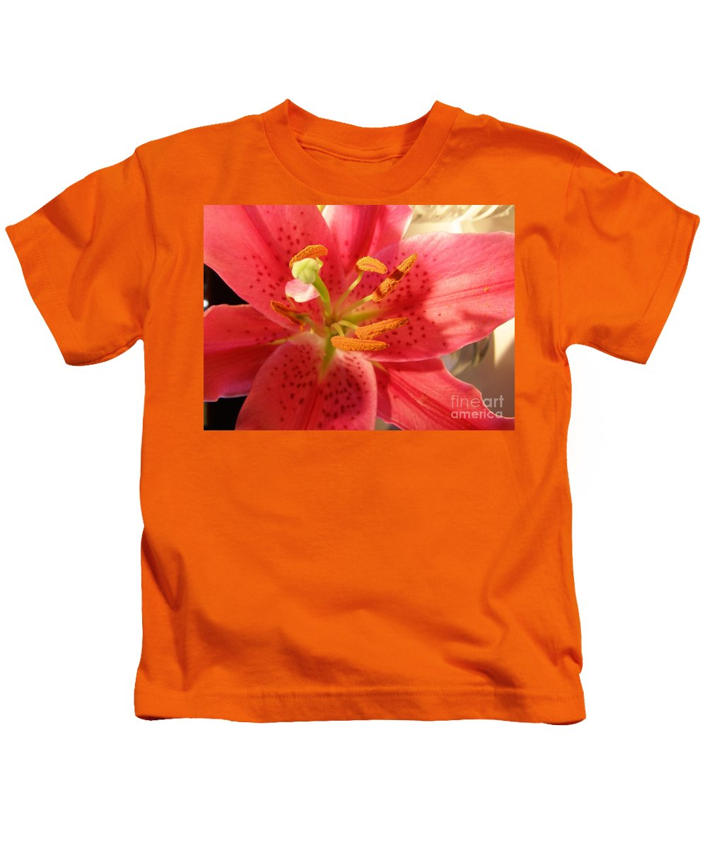 Tiger Lily Kids T-Shirt featuring the photograph Tiger Lily by Bev Conover