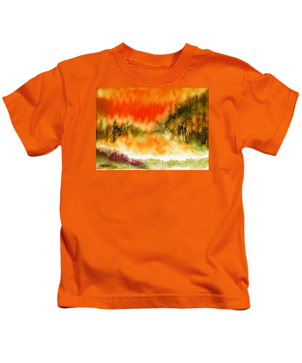 Timber Blaze Kids T-Shirt featuring the mixed media Timber Blaze by Seth Weaver