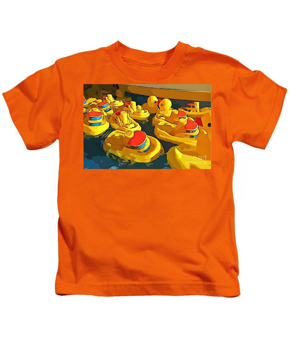 Traffic Jam Kids T-Shirt featuring the painting Traffic Jam by John Malone