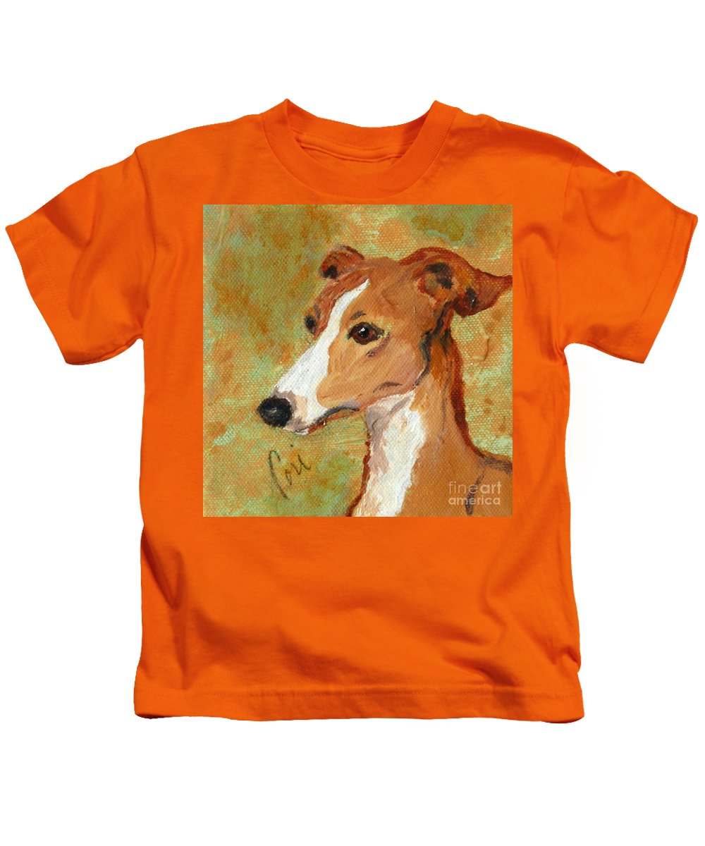 Acrylic Kids T-Shirt featuring the painting Treasured Moments by Cori Solomon