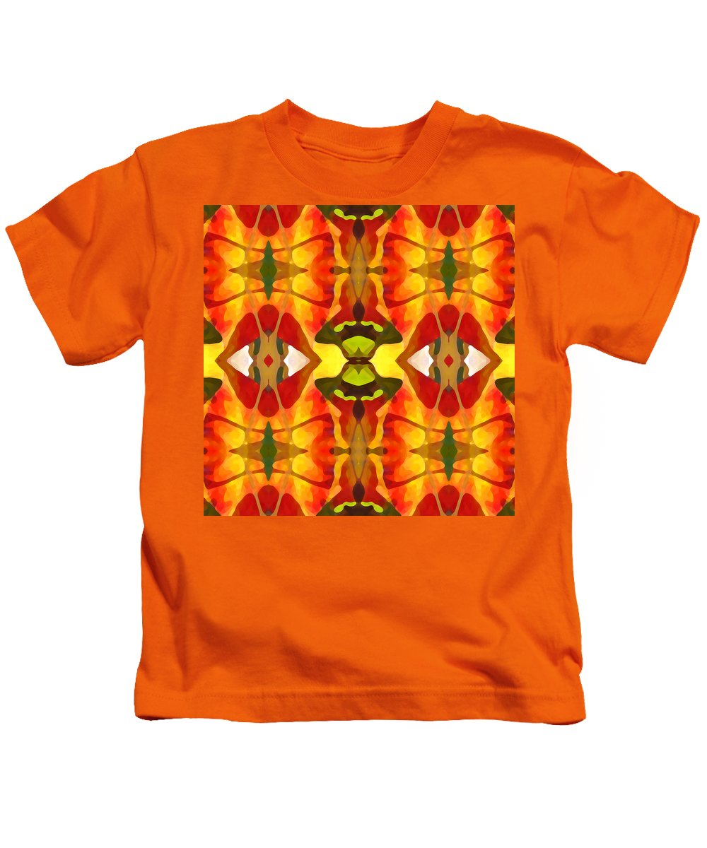 Abstract Kids T-Shirt featuring the painting Tropical Leaf Pattern 4 by Amy Vangsgard