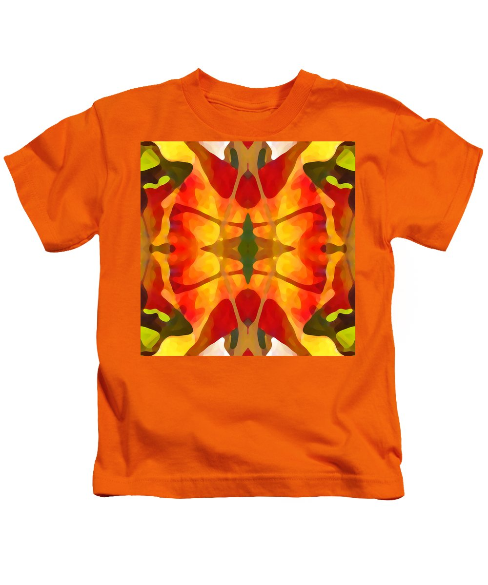 Abstract Kids T-Shirt featuring the painting Tropical Leaf Pattern5 by Amy Vangsgard