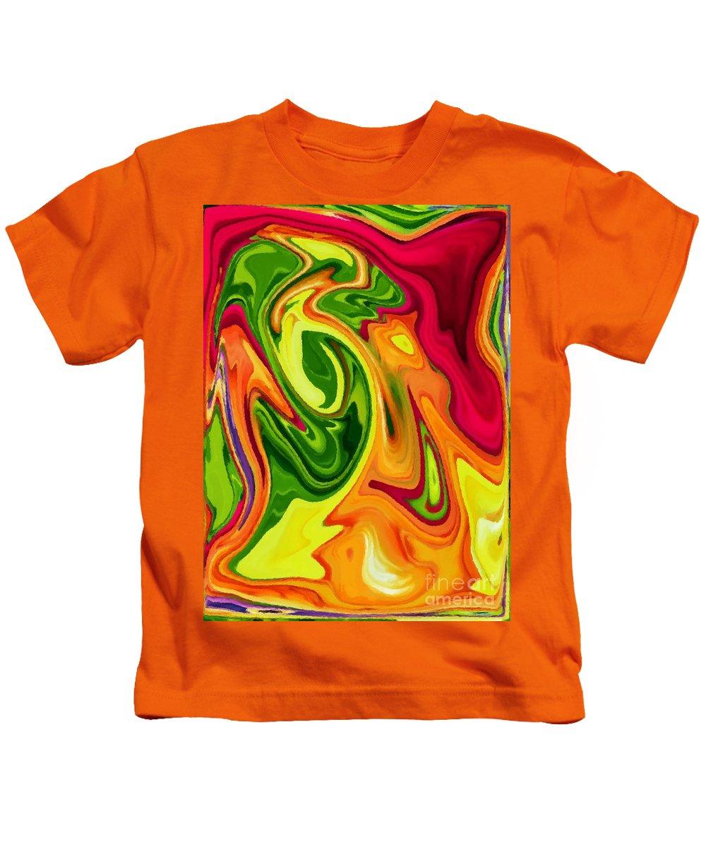 Tropical Kids T-Shirt featuring the digital art Tropics by Chris Butler